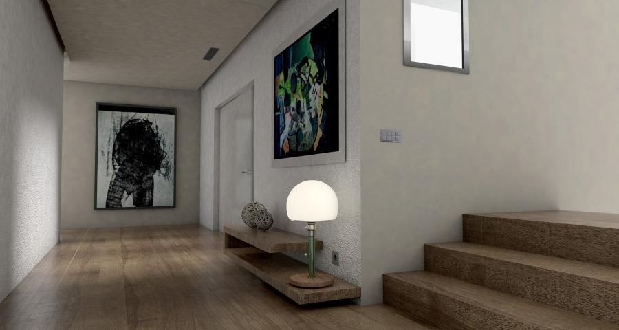 couloir avec tableaux