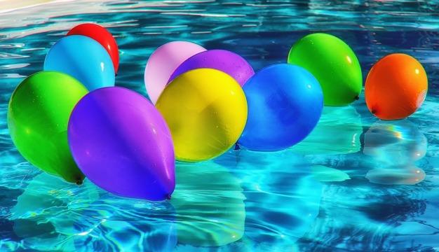 piscine ballons