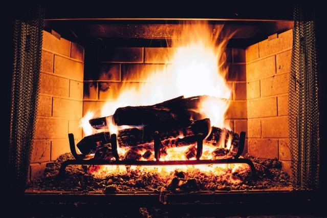 feu de cheminée