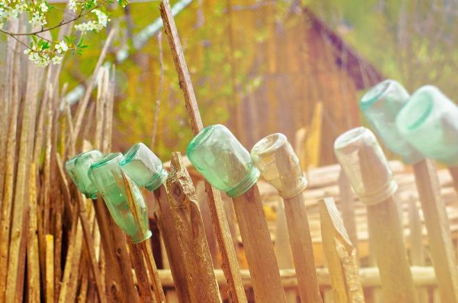 réutilisation pots en verre