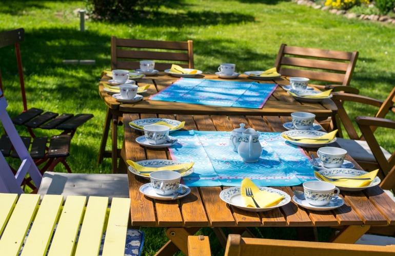 repas en terrasse