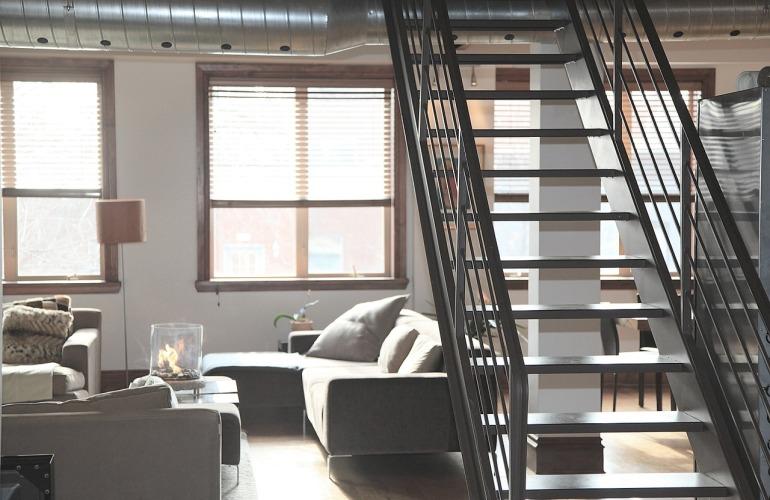 escalier dans appartement