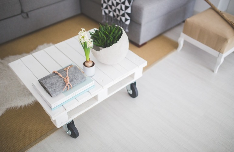 table basse roulante