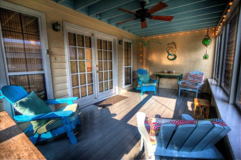 veranda aménagée