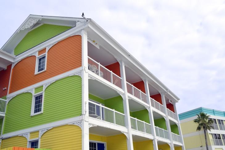 immeuble de couleur