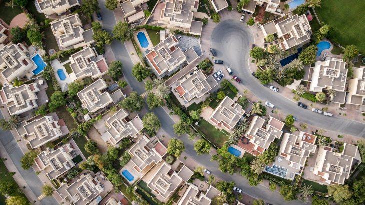 maisons vues de dessus